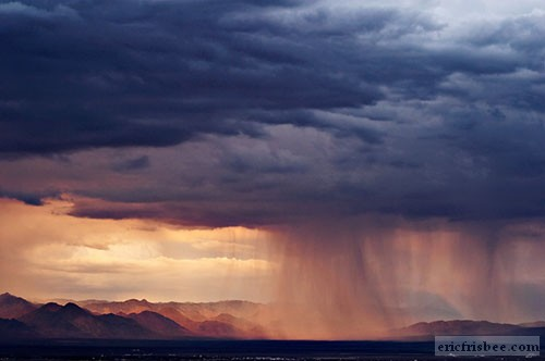 Indian Wells Valley Thunderstorm Coso Mountains