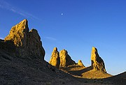 Tufas Howling at the Moon - Trona Pinnacles