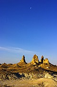 Early Morning Pinnacles and Moon - Trona Pinnacles