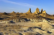 Formed by Calcium Carbonate - Trona Pinnacles