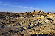 Dry Pleistocene Lake and Tufa - Trona Pinnacles