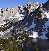 Heart Lake Kearsarge Pass - Eastern Sierra Nevada Mountains