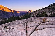 Distant Half Dome and Glacial Remnant - Yosemite - Eastern Sierras