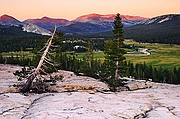 Sunset Over Tuolumne Meadows with Distant Lembert Dome - Yosemite