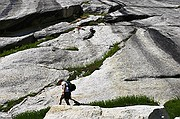 Hiker on the Ledge - Mount Whitney